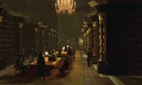 Hogwarts library quiet