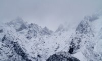 Mountain blizzards and wind