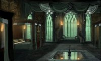 studying in the slytherin dormatory late at night