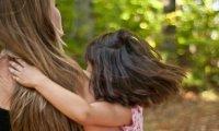 Brushing long, beautiful hair