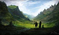 Dream on a celtic harp