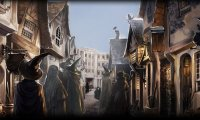 Walking thourgh diagon alley on a busy day