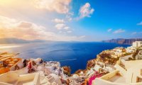 Balcony view from Santorini
