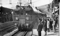 Travelling in one an electric train in the mid-1920s