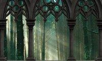Gruvald Palace Room- forest, birds, fireplace