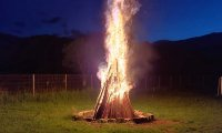Meditation 06 Ambient Shamanic Drums & OM Chants (Rain, Thunder, Wolf, Fire, Chimes)