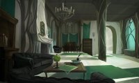study in the slytherin common room whilst everyone is in class