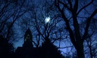 spooky graveyard at night + digging, walking, and whistling