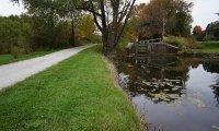 Autumn walking near a river