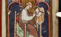 Illuminated manuscript workshop. A multicultural monastic atmosphere