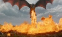 Daenerys Attacking a Town with her Dragons