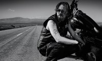 Chibs Working on his Bike at Home