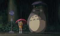 Waiting for the bus with Totoro