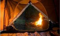 Camping by the fire