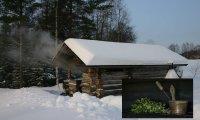 Finnish wood burning sauna