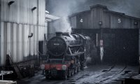 Train Through a Storm
