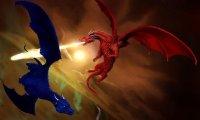 Saphira and Eragon Fighting