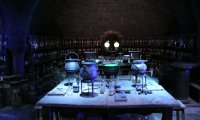 Quiet dark dungeon before the potions class