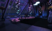 Enterprise's Observation Lounge at Night