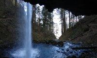 Moonlight through the waterfall with Faramir & company
