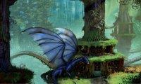 Eragon Studying with Saphira