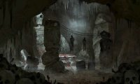 Old Sea cave and cultist