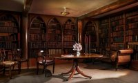 Inside a Medieval Library During a Rainstorm