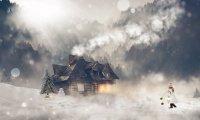Winter sneeuwstorm