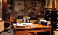 in mulder & scully's office.