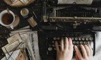 Listen to a writer type away on a typewriter