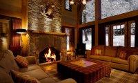 Fireplace on a cottage