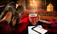 Crackling fire, cocoa and a warm blanket. You know, the essentials