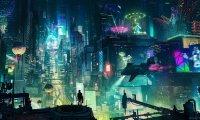 Rainy Cyberpunk City atmosphere