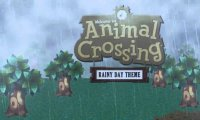 Rainy Day Animal Crossing Town