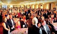 Happy Restaurant Dinner Crowd