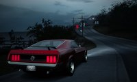 Route 66 in an old Mustang