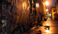Back Alley in the Rain