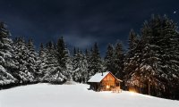 One of my happy places – a cabin during winter
