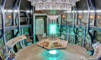 Inside the TARDIS control room
