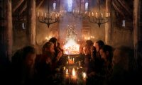 Enjoy the calm, peace, and comfort of the tavern / mead hall