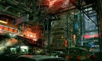A Crowded, Cyberpunk Inner-City Street