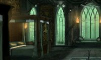Sleeping in the Slytherin dorms