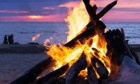Bonfire on a summer night.