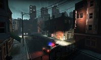 The empty, rainy streets of Left 4 Dead