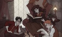 A late night studying for your N.E.W.T.s in the Gryffindor Common Room