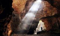 It's a cave. it's dark