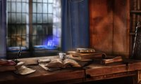 Stormy night in Ravenclaw Commons Room