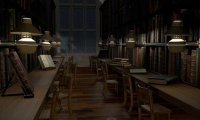 Another day in the Hogwarts library