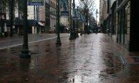 Simply walking in the rain