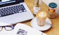 Study in a warm, cozy café